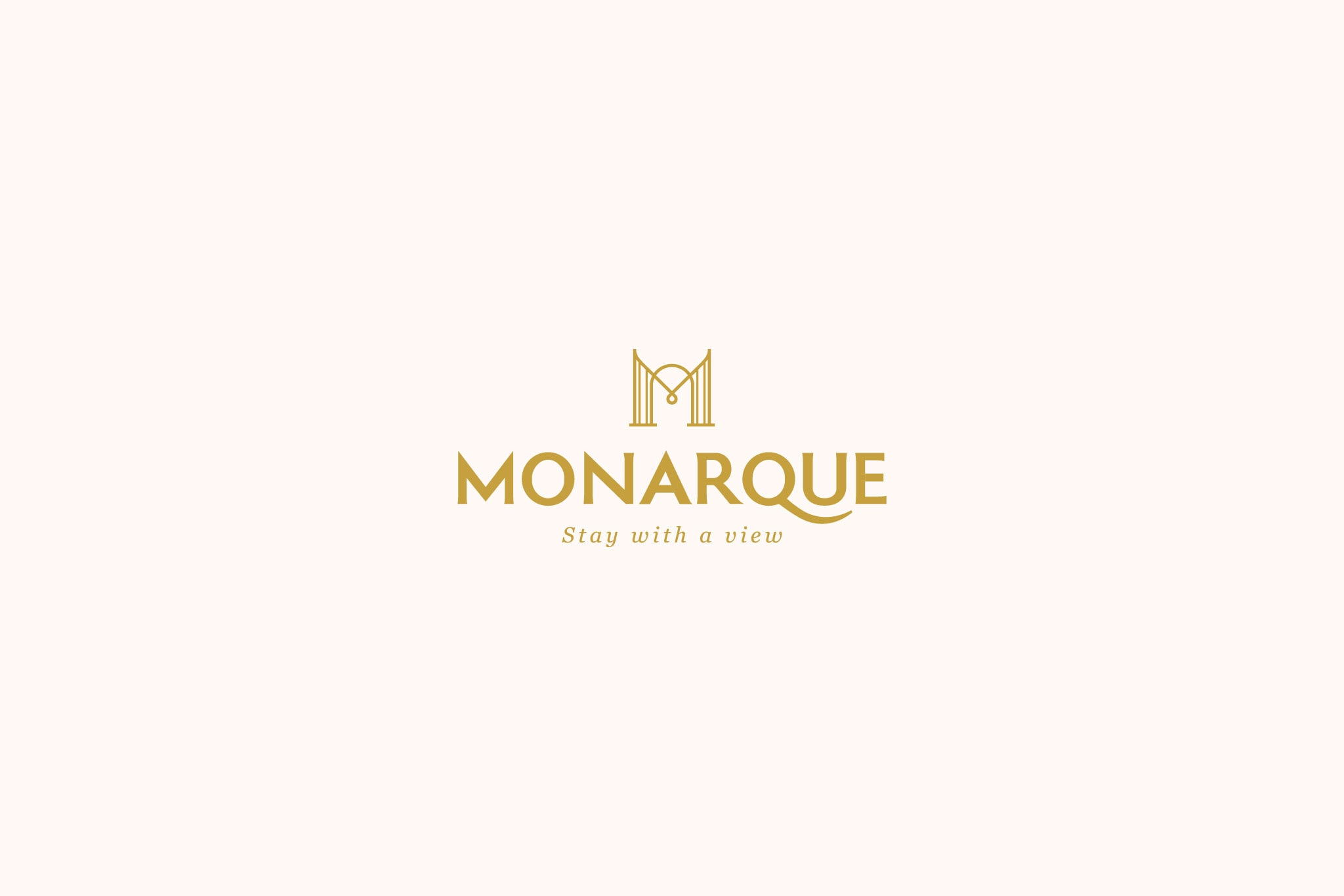 Thiết kế logo khách sạn Monarque